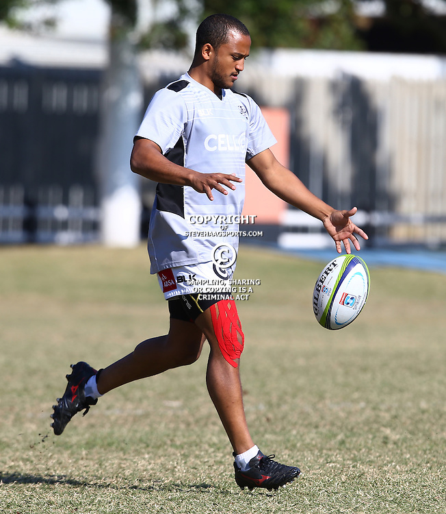 DURBAN, SOUTH AFRICA, 18,JULY, 2016 - Rhyno Smith  during The Cell C Sharks training session at Growthpoint Kings Park in Durban, South Africa. (Photo by Steve Haag)<br /> <br /> images for social media must have consent from Steve Haag