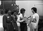 Comhaltas Ceoltóirí Éireann Tour.  (N66)..1981..24.03.1981..03.24.1981..24th March 1981..Twenty leading traditional musicians, singers and dancers will participatein the third annualconcert tour of Ireland by Comhaltas Ceoltóirí Éireann.The tour which will cover the four provinces will be from March 29th to April 12th. Due to the rising costs of such a tour Comhaltas appealed for sponsorship, Guinness Group Sales,Ltd, responded generously and have adopted the Irish Tour as their special project..The artistes appearing include;. Bobby Gardiner,Clare; Sean McSkeane,London;.Liam Farrell,London; Frank Kelly, Donegal;.Vincent Broderick, Galway; Anne McAuliffe, Kerry;.Margaret Peakin, Liverpool; Peter Carberry,Longford;.Nora Butler, Tipperary; Michael Hipkiss, Bimingham;.Maria Wogan, Dublin; Anne Callaghan, Tipperary;.Michael Cunningham and John Cunningham, Athlone..Image shows Mícheal Ó Cionnaith playing a set on the banjo for Guinness Staff at the St James's Gate Brewery, Dublin.