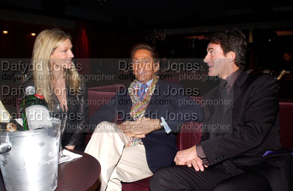 Charlene Souza, Valentino and Tim Jeffreys, Tanqueray Philip Treacy couture fashion show and after party,  Pink Paradise Club, Paris. 21 January 2003. © Copyright Photograph by Dafydd Jones 66 Stockwell Park Rd. London SW9 0DA Tel 020 7733 0108 www.dafjones.com