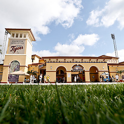 Feb 23, 2013; Lakeland, FL, USA; A general view outside prior to a spring training game between the Detroit Tigers and the Toronto Blue Jays at Joker Marchant Stadium. Mandatory Credit: Derick E. Hingle-USA TODAY Sports