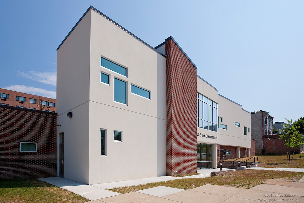 Leonard E. Hicks Community Center Greater New Hope Baptist Church  interior and exterior architectural  photos built by Trionfo Builders