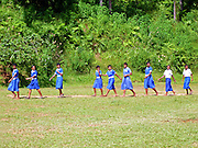 Students at the Ratu Varani School in Kadavu Koro, Fiji.