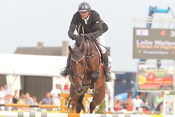 Lelie Walter (BEL) - Gracieu vd Begijnakker<br /> Belgisch kampioenschap jonge springpaarden Gesves 2012<br /> © Hippo Foto - Counet Julien