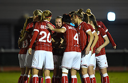 Bristol City Women huddle before kick-off - Mandatory by-line: Paul Knight/JMP - 02/12/2017 - FOOTBALL - Stoke Gifford Stadium - Bristol, England - Bristol City Women v Brighton and Hove Albion Ladies - Continental Cup Group 2 South