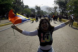 April 30, 2019 - Valencia, Carabobo, Venezuela - April 30, 2019. The venezuelans star a new protest against Maduro. The interim president Juan Guaido call to take the street in all Venezuela. This photos ar from the Valencia city, Carabobo state. Photo: Juan Carlos Hernandez (Credit Image: © Juan Carlos Hernandez/ZUMA Wire)