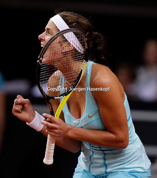 Porsche Cup 2011 in Stuttgart, internationales WTA Damen Tennis Turnier, Porsche Arena, Einzel Finale, Julia Goerges(GER),action,Einzelbild,