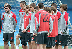 06.09.2014, Trainingsground, Zagreb, CRO, FS Vorbereitung, Trainingslager, Kroatisches Nationalteam, im Bild Duje Cop, Mario Pasalic, Ivan Rakitic // during a training session of the national footballteam of Croatia in preparation for the upcoming EURO 2016 qualifying match against Malta on 09. Spetember 2014 in Zagreb, at the Trainingsground in Zagreb, Croatia on 2014/09/06. EXPA Pictures © 2014, PhotoCredit: EXPA/ Pixsell/ Sanjin Strukic<br /> <br /> *****ATTENTION - for AUT, SLO, SUI, SWE, ITA, FRA only*****