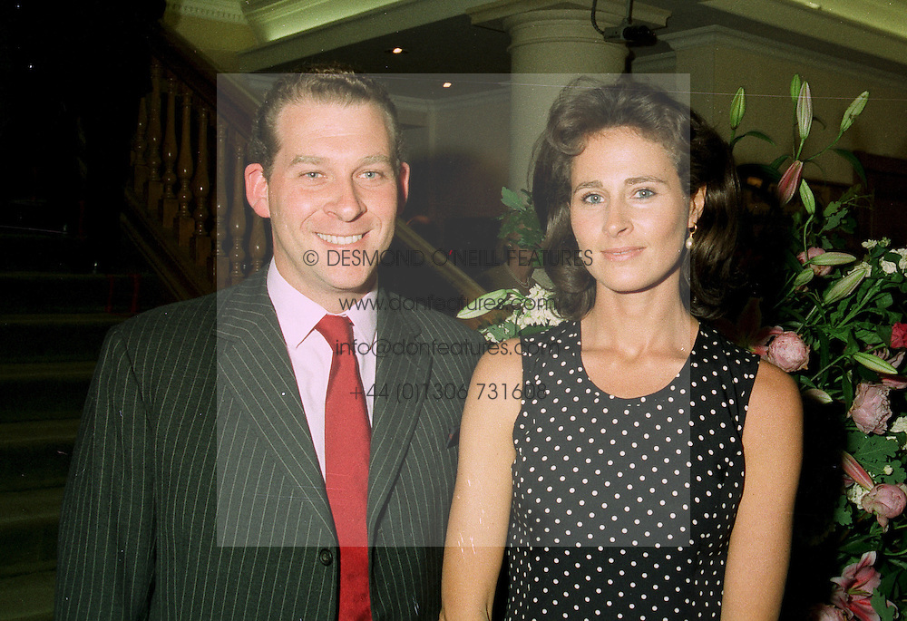 HENRIETTA, COUNTESS OF CALEDON and her brother MR ANTHONY  NEWMAN, at a party in London on 30th June 1997.LZU 35