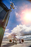 Photo of airplane in airport