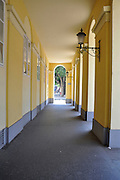 Eastern Europe, Hungary, Szeged, Dom Square, corridor
