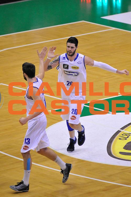 DESCRIZIONE : Treviso Lega due 2015-16  Universo Treviso De Longhi - Aurora Basket Jesi<br /> GIOCATORE : andrea ancellotti<br /> CATEGORIA : Esultanza<br /> SQUADRA : Universo Treviso De Longhi - Aurora Basket Jesi<br /> EVENTO : Campionato Lega A 2015-2016 <br /> GARA : Universo Treviso De Longhi - Aurora Basket Jesi<br /> DATA : 31/10/2015<br /> SPORT : Pallacanestro <br /> AUTORE : Agenzia Ciamillo-Castoria/M.Gregolin<br /> Galleria : Lega Basket A 2015-2016  <br /> Fotonotizia :  Treviso Lega due 2015-16  Universo Treviso De Longhi - Aurora Basket Jesi