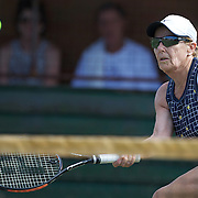 Heide Orth, Germany, in action in the 65 Womens Singles during the 2009 ITF Super-Seniors World Team and Individual Championships at Perth, Western Australia, between 2-15th November, 2009.