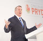 Conservative Spring Forum at Welsh Conference, Cardiff, Wales, Great Britain <br /> 17th March 2017 <br /> <br /> <br /> The Rt Hon Liam Fox MP <br /> Secretary of State for International Trade <br /> <br /> <br /> Photograph by Elliott Franks <br /> Image licensed to Elliott Franks Photography Services