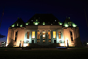 Supreme Court of Canada building, August 13, 2009. Night summer shot of the Supreme Court of Canada in Ottawa.