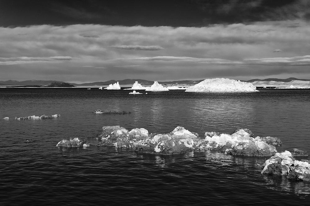 Mono Lake West Shoreline Tufa - Infrared Black & White