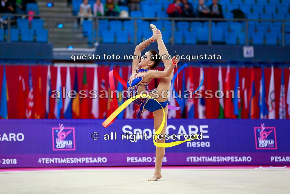 Kim Chaewoon, born in the Republic of Korea in 2001, is a Korean individual rhythmic gymnast.