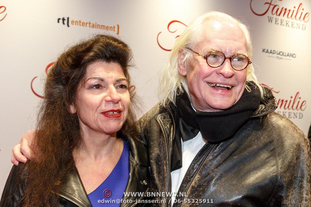 NLD/Amsterdam/20160216 - Filmpremiere Familieweekend, Peer Mascini en partner Mattie