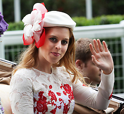 Princess Beatrice  arrives for  Ladies Day at  Royal Ascot, Thursday 21st  June 2012.  Photo by: Stephen Lock / i-Images