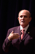 Rudolph Giuliani, the former mayor of New York City, speaks Monday night at Lake Michigan College's Mendel Center in Benton Harbor as part of the Economic Club of Southwestern Michigan series.