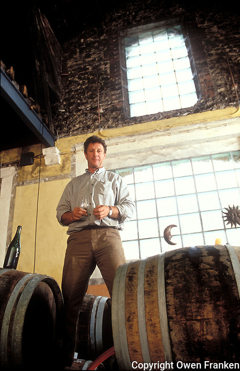 Anselme Selosse, owner and Champagne winemaker at Jacques Selosse, Avize, Champagne, France. - Photograph by Owen Franken
