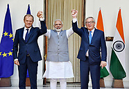 Jean-Claude Juncker & Tusk Meet Indian PM Modi