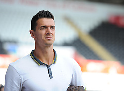 Southampton's José Fonte walks into the liberty stadium. - Photo mandatory by-line: Alex James/JMP - Mobile: 07966 386802 20/09/2014 - SPORT - FOOTBALL - Swansea - Liberty Stadium - Swansea City v Southampton  - Barclays Premier League