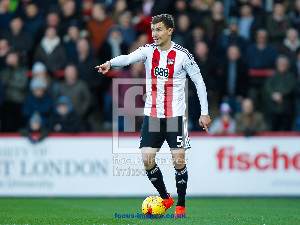 Andreas Bjelland of Brentford during the Sky Bet Championship match between Brentford and Cardiff City at Griffin Park, London<br /> Picture by Mark D Fuller/Focus Images Ltd +44 7774 216216<br /> 26/12/2016