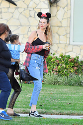 Adam Levine and Behati Prinsloo take their daughter Dusty Rose trick or treating . 31 Oct 2018 Pictured: Behati Prinsloo, Adam Levine, Dusty Rose Levine. Photo credit: Marksman / MEGA TheMegaAgency.com +1 888 505 6342