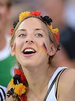 FUSSBALL  EUROPAMEISTERSCHAFT 2012   VORRUNDE Daenemark - Deutschland       17.06.2012 Weiblicher Fan der deutschen Nationalmannschaft