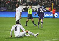 Photo: Maarten Straetemans/Sportsbeat Images.<br /> Anderlecht v Tottenham Hotspur. UEFA Cup. 06/12/2007.<br /> Tottenham gets a penalty