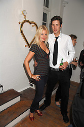 MARISSA MONTGOMERY and artist HUGO DALTON at a party to celebrate the opening of a new art gallery, 20 Hoxton Square, Hoxton Square, London on 27th April 2007.<br /><br />NON EXCLUSIVE - WORLD RIGHTS