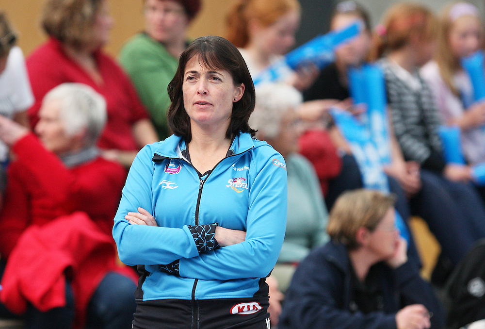 Southern Steel's co coach Janine Southby looks on at their preseason match against Otago/Southland Lois Muir Challenge Team at the Recreation Centre, Balclutha, New Zealand, Saturday, March 17 2012. Credit:SNPA / Dianne Manson