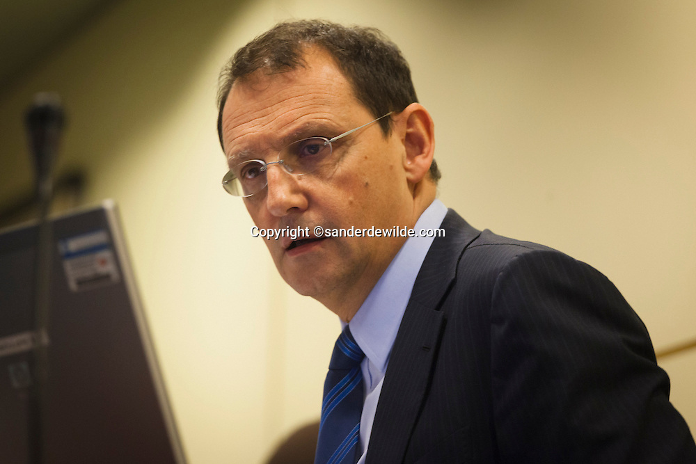 Pierre Mariani, CEO of Dexia Bank, was questioned during a session of the special chamber commission Finance on Dexia, at the federal parliament, in Brussels on January 20 , 2012.