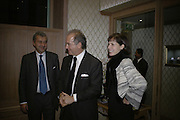 Andrea  Buccellati, Charles Finch and Darcey Bussell. Tea party to celebrate  the opening of the Buccellati  shop in Albermarle St. hosted by Charles Finch. Browns Hotel. 13 February 2007.   -DO NOT ARCHIVE-© Copyright Photograph by Dafydd Jones. 248 Clapham Rd. London SW9 0PZ. Tel 0207 820 0771. www.dafjones.com.