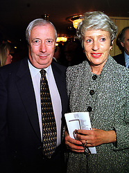 LORD &amp; LADY HARRIS OF PECKHAM at a lunch in London on 15th October 1999.<br /> MXW 21