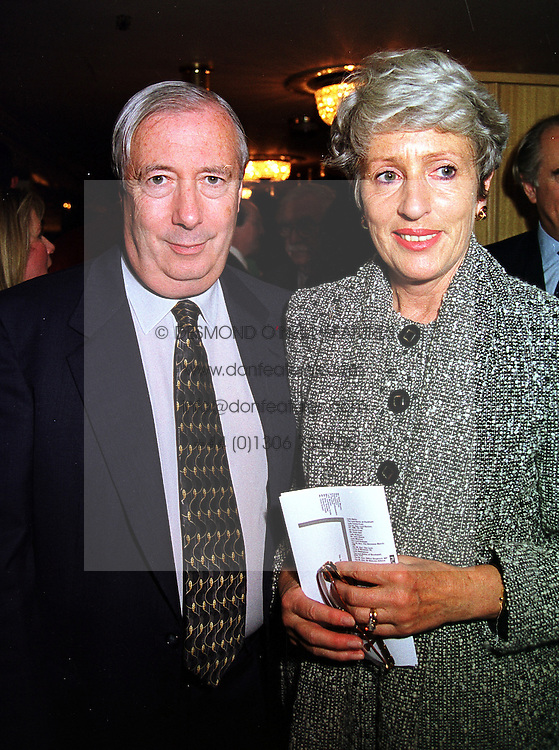 LORD & LADY HARRIS OF PECKHAM at a lunch in London on 15th October 1999.<br /> MXW 21