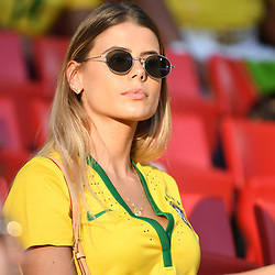 Carol Cabrino wife of Marquinhos during the FIFA World Cup Group E match between Serbia and Brazil on June 27, 2018 in Moscow, Russia. (Photo by Anthony Dibon/Icon Sport)
