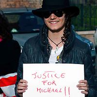 Manifestazione dei fan di Michael Jackson