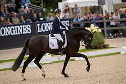 Lynn Thomas Jessica, SWE, Secret<br /> World Championship Young Dressage Horses - Ermelo 2019<br /> © Hippo Foto - Dirk Caremans<br /> Lynn Thomas Jessica, SWE, Secret