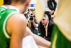 Zoran Martić head coach of KK Olimpija during basketball match between KK Union Olimpija and KK Krka Novo Mesto in 1st Round of Nova KBM league, on October 11, 2018, in SD Leona Stuklja, Novo Mesto, Slovenia. Photo by Grega Valancic / Sportida