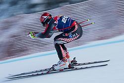 KITZBUHEL AUSTRIA. 22-01-2011. Natko Zrncic-Dim (CRO) speeds down the course competing in the 71st Hahnenkamm downhill race part of  Audi FIS World Cup races in Kitzbuhel Austria.  Mandatory credit: Mitchell Gunn