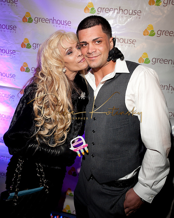 NEW YORK, NY - APRIL 13:  Victoria Gotti & Frank Gotti Agnello attends Frank Gotti's 21st birthday celebration at Greenhouse on April 13, 2011 in New York City.  (Photo by Dave Kotinsky/Getty Images)