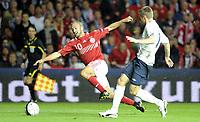 Fotball<br /> EM-kvalifisering<br /> Danmark v Norge / Denmark v Norway<br /> 06.09.2011<br /> Foto: Morten Olsen, Digitalsport<br /> <br /> Dennis Rommedahl - Danmark