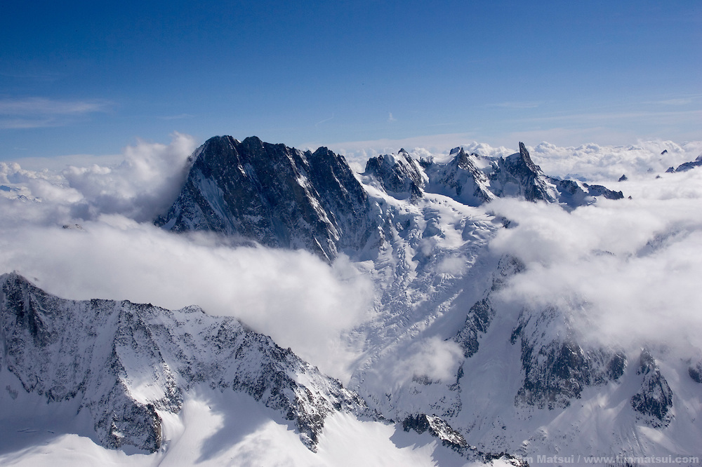 From the summit of Les Droites, Chamonix, France.