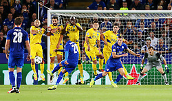 Riyad Mahrez of Leicester City takes a free kick - Mandatory by-line: Matt McNulty/JMP - 27/09/2016 - FOOTBALL - King Power Stadium - Leicester, England - Leicester City v FC Porto - UEFA Champions League