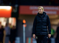 NEWPORT, WALES - Friday, August 31, 2018: Wales' manager Jayne Ludlow during the FIFA Women's World Cup 2019 Qualifying Round Group 1 match between Wales and England at Rodney Parade. (Pic by David Rawcliffe/Propaganda)