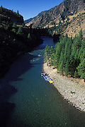 THIS PHOTO IS AVAILABLE FOR WEB DOWNLOAD ONLY. PLEASE CONTACT US FOR A LARGER PHOTO. Idaho. Middle Fork of Salmon River, Frank Church Wilderness, rafting campsite.