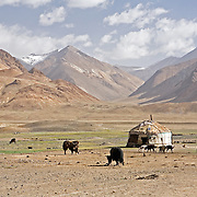 Kyrgyz yurt in Pshart Valley near Murgab, Tajikistan