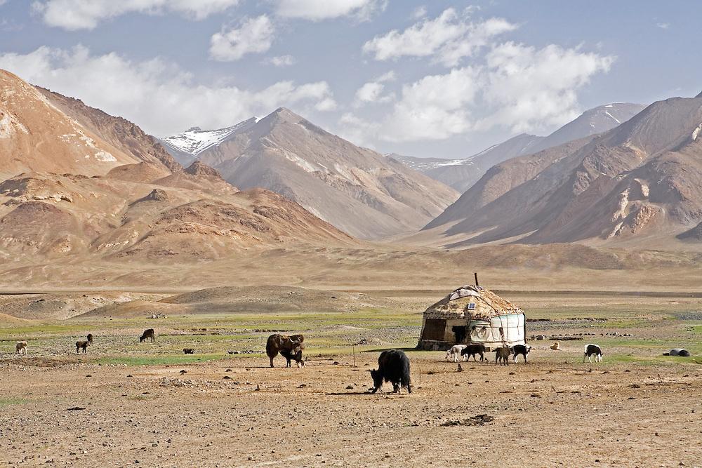 Kyrgyz yurt in Pshart Valley near Murgab, Tajikistan