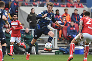 Leeds United forward Patrick Bamford (9) on the attack during the EFL Sky Bet Championship match between Bristol City and Leeds United at Ashton Gate, Bristol, England on 9 March 2019.